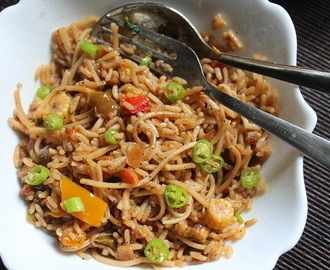 Veg Noodles Fried Rice Recipe
