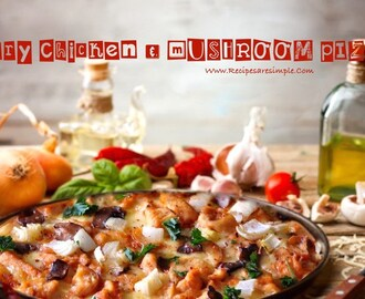 Fiery Chicken and Mushroom Pizza
