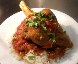 Indian Style Curried Lamb Shanks