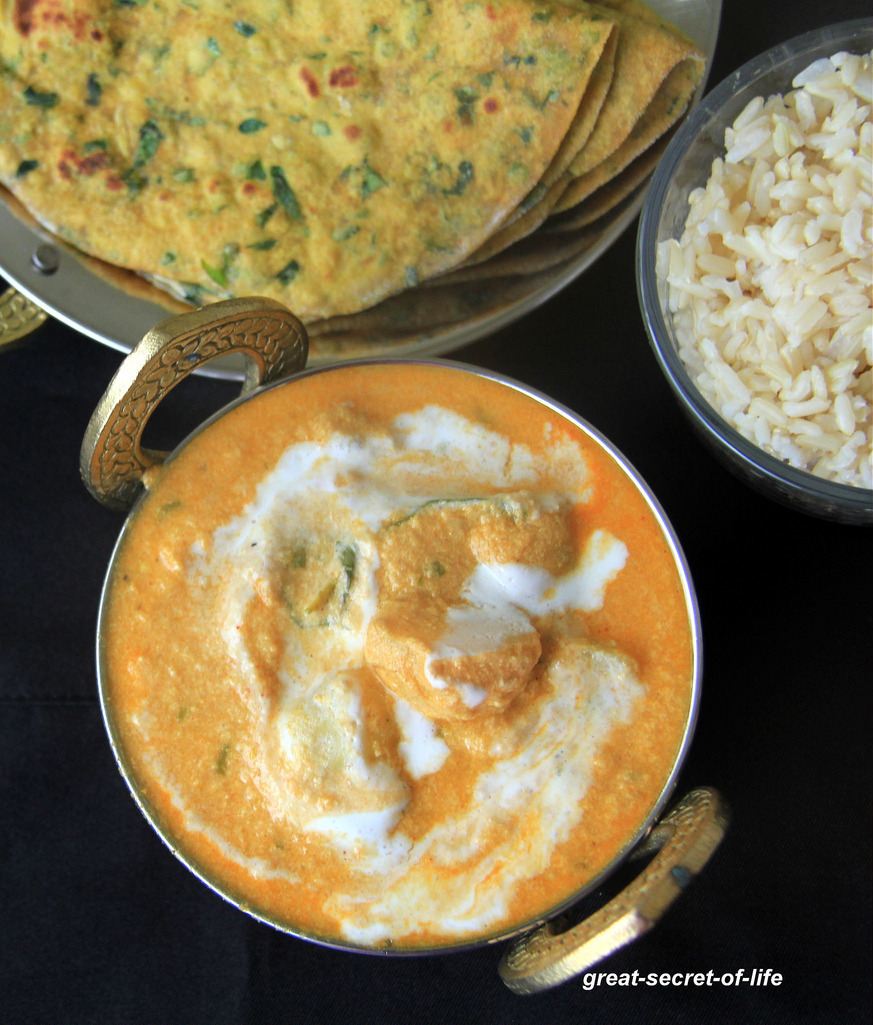 Amras Ke Malai Aloo - Mango Potato gravy - Side dish for rice, roti, dosa