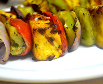 Paneer Tikka Recipe On Tawa - How to make Paneer Tikka on tawa, gas stove top without oven