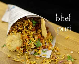 bhel puri recipe | mumbai bhelpuri recipe | bhel poori – street food of india