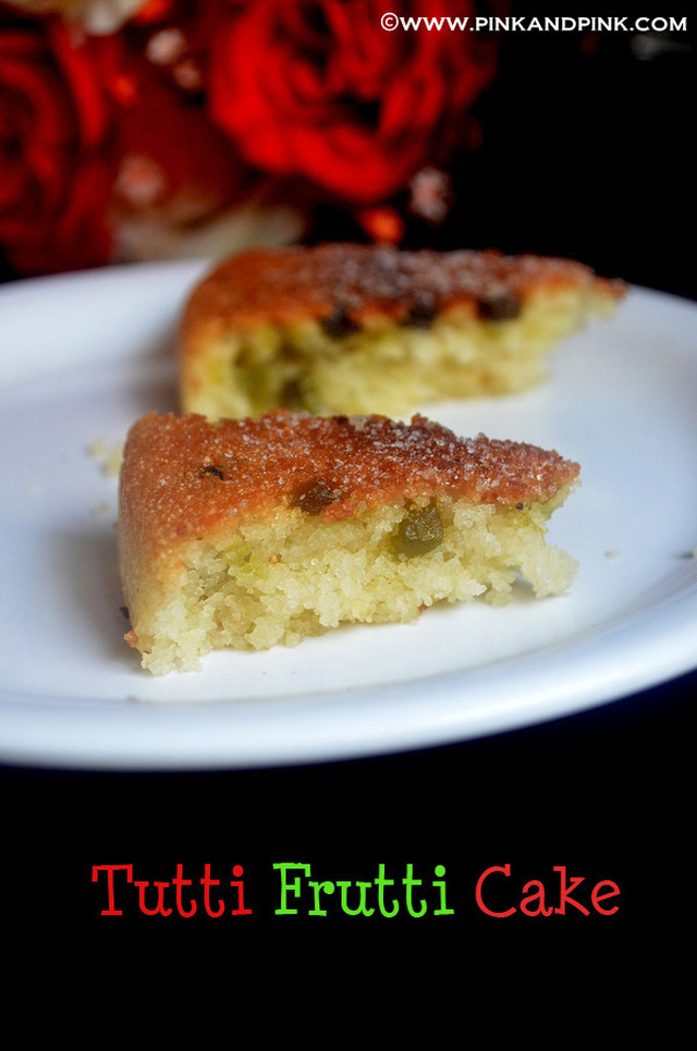 Eggless Tutti Frutti Cake Recipe - How to make tutti frutti cake in Pressure Cooker