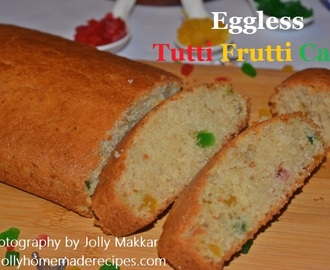 Eggless Tutti Frutti Cake Recipe, How to make Eggless Tutti Frutti Cake | Semolina Cake