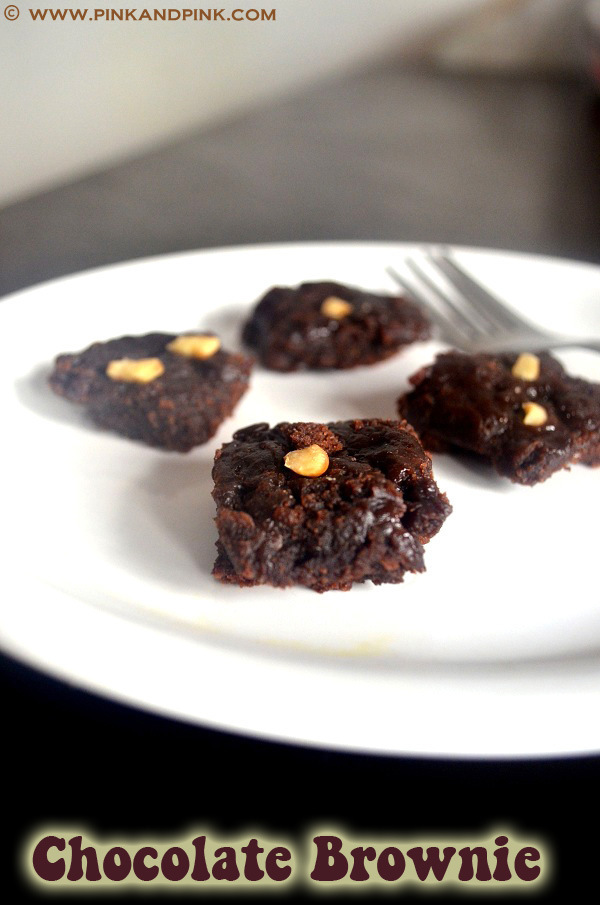 Eggless Chocolate Brownie Recipe -  How to Make Brownie in Pressure Cooker