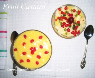 Fruit Custard Recipe -- How to make Fruit Custard Recipe