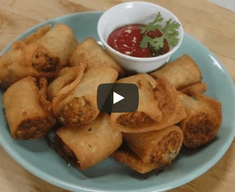 Spicy Paneer Rolls Recipe Video