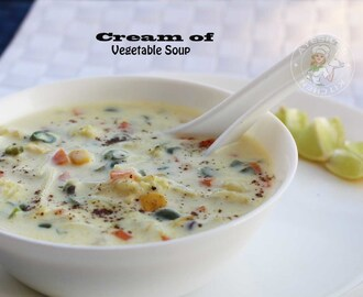 VEGETARIAN SOUP RECIPES - CREAM OF VEGETABLE SOUP