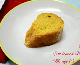 Eggless Mango Tea Cake | How to make Condensed Milk Mango Cake