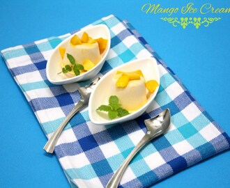 3 Ingredient Homemade Mango Ice Cream Recipe