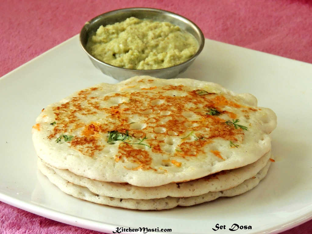 Set Dosa Recipe ( Soft Sponge Dosa )