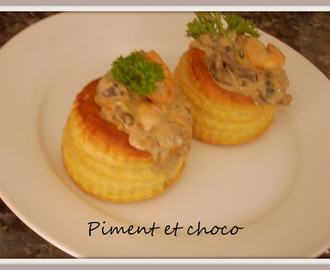 Vol au vent de fruits de mer