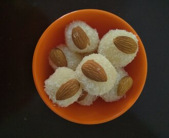 Coconut Laddu using Khoya (Mawa)