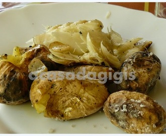 Bacalhau Assado no Barbecue com Batatas a Murro