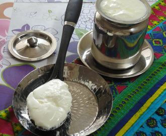 How to make yogurt ( curd / mosaru ) at home /  homemade dahi recipe