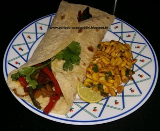 VEG FAJITA WITH BURNT CORN