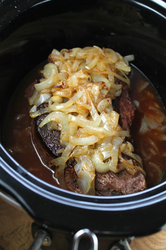 Crock Pot Roast with Caramelized Onions