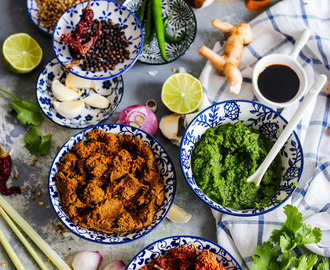 Thai Red, Yellow and Green Curry Paste Recipe | Trio Of Thai Curry Pastes
