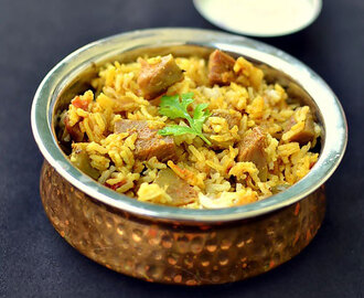 Kathal Biryani-Raw Jackfruit biryani recipe-Sunday Lunch Recipes Series 22