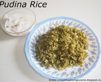 Mint Rice -- Pudina Rice Recipe -- How to make Mint Rice