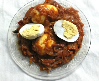 Tharavu mutta roast / Duck egg roast