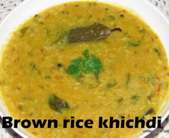 Brown rice dal khichdi recipe