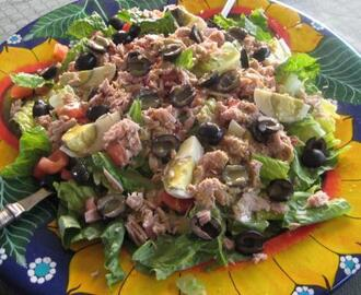"Salade Niçoise or ""salad from Nice"" (France)"