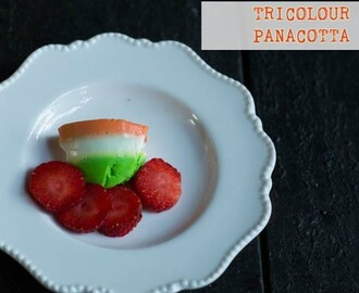 TRICOLOR PANA COTTA - CELEBRATING INDIA's 67th REPUBLIC DAY