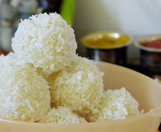 Coconut Laddoo/ Coconut Laadu/ Coconut Laddu ~~Festival recipes