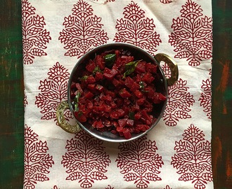 Beetroot Poriyal | Tam Brahm Style Beetroot Stir Fry | Gluten Free and Vegan