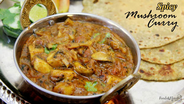 Mushroom Curry Recipe – How to make Restaurant style Mushroom Masala Curry | Mushroom recipe