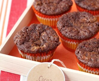 Cocoa-Carrot Cupcakes with White Chocolate Chips
