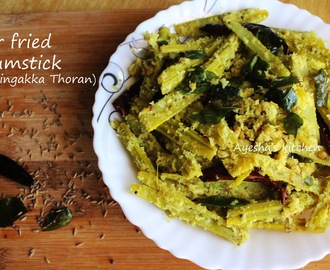 MORINGA RECIPES - STIR FRIED DRUMSTICK / MURINGAKKA THORAN