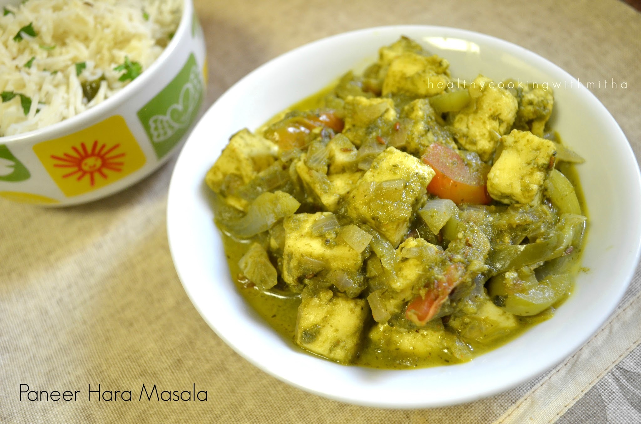 Paneer Hara Masala | Cottage cheese in green gravy