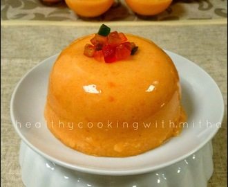 Papaya Pudding | Easy recipe without gelatin