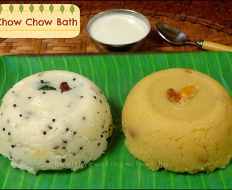 Chow Chow Bath | Upma, Sheera and Chutney