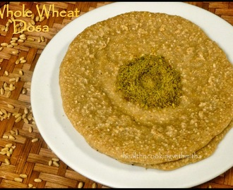 Whole Wheat Dosa with Curry Leaves Chutney Powder