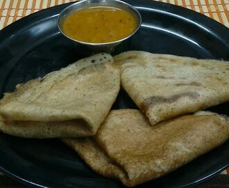 Wheat and Green Gram Dosa (Gothumai & Payaru Dosai)