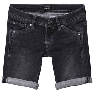 Pepe Jeans Cashed Washed Slim Fit Soft Denim Shorts Svart 5 years