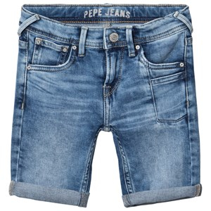 Pepe Jeans Pilot Slim Fit Washed Stretch Denim Shorts Blå 4 years