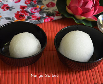 Nungu Sorbet / Ice Apple Sorbet