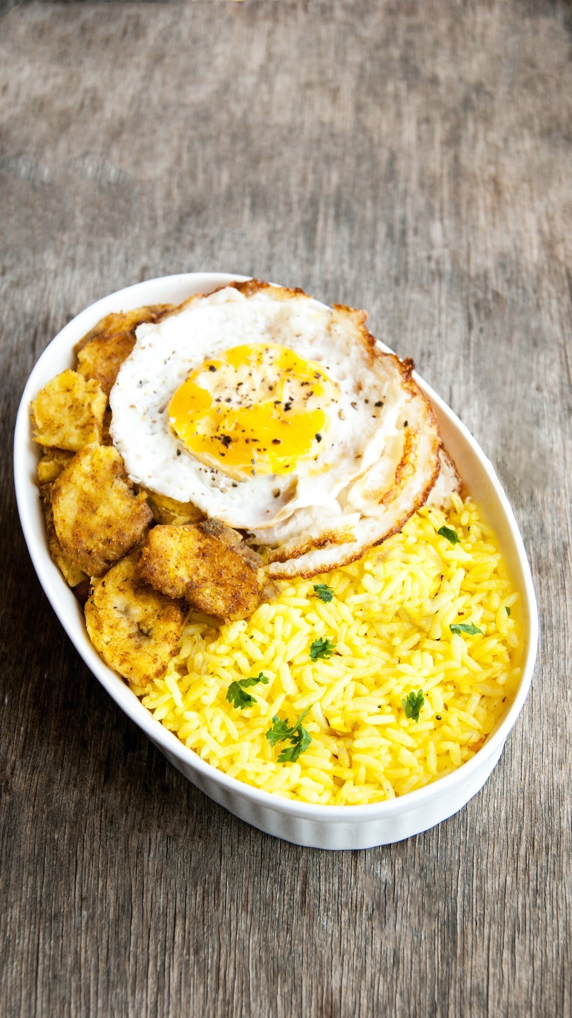 Yellow Rice with and fried egg
