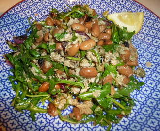 Tuna and Borlotti Bean Salad with Balsamic Roasted Onion's Recipe
