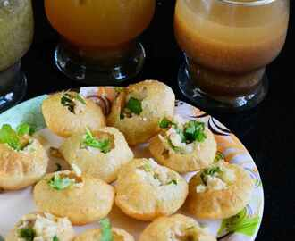 Pani Puri with Three Pani Flavours – Indian Street Food Recipe