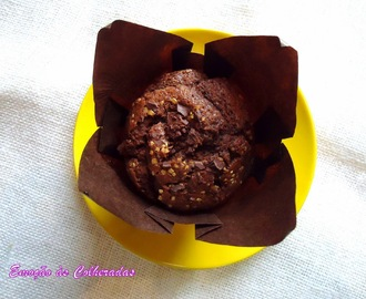 Cupcakes de Chocolate com Pepitas de Chocolate