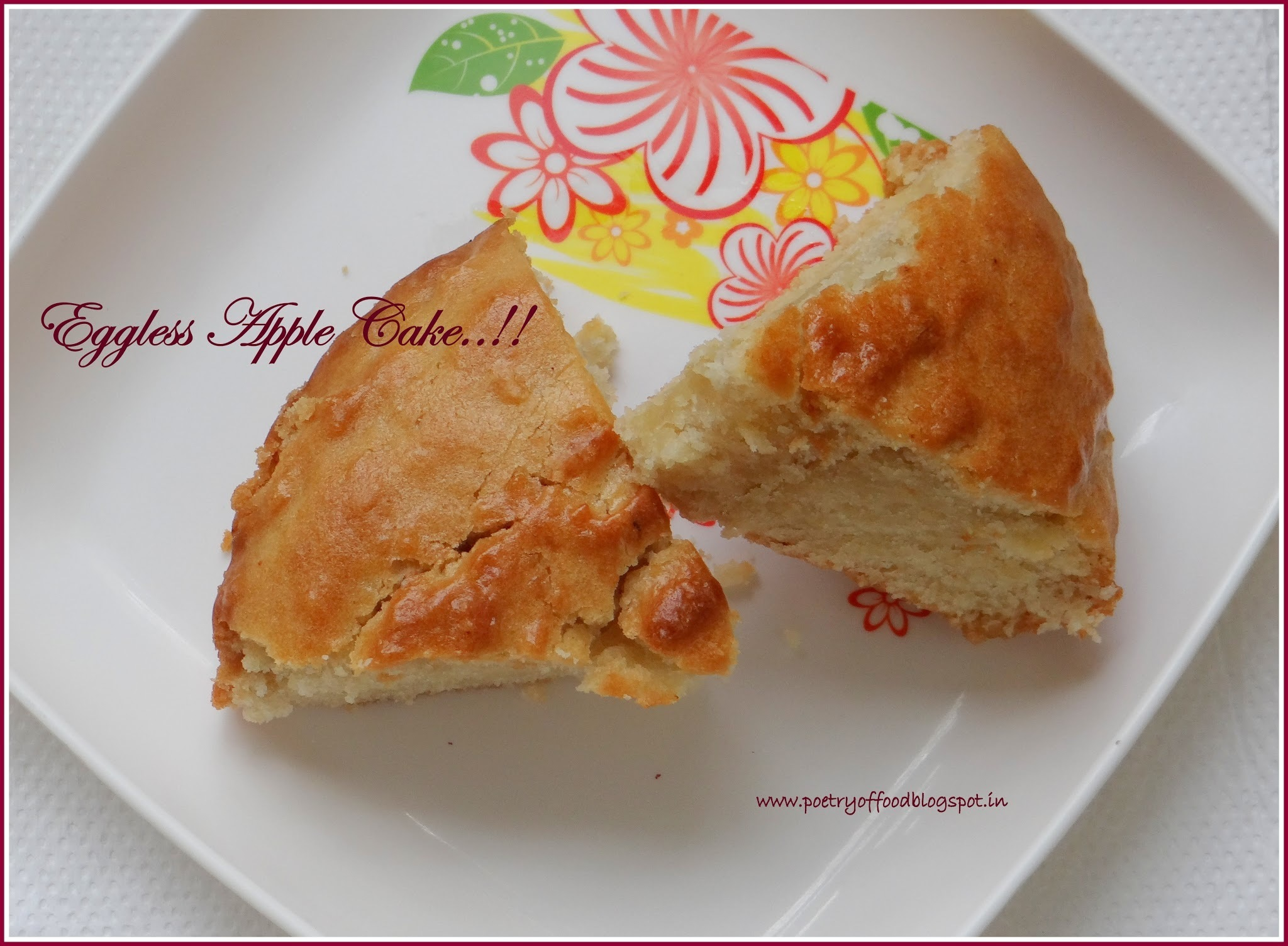 Eggless Apple Cake..!!!