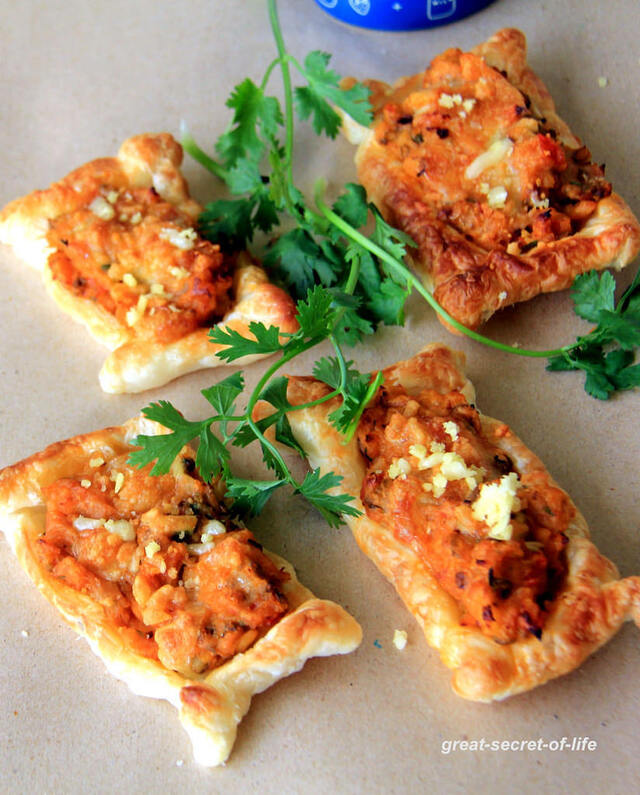 Veg puff pastry Open Pie - Simple puff pastry recipes - Kids friendly recipes - Snacks recipe