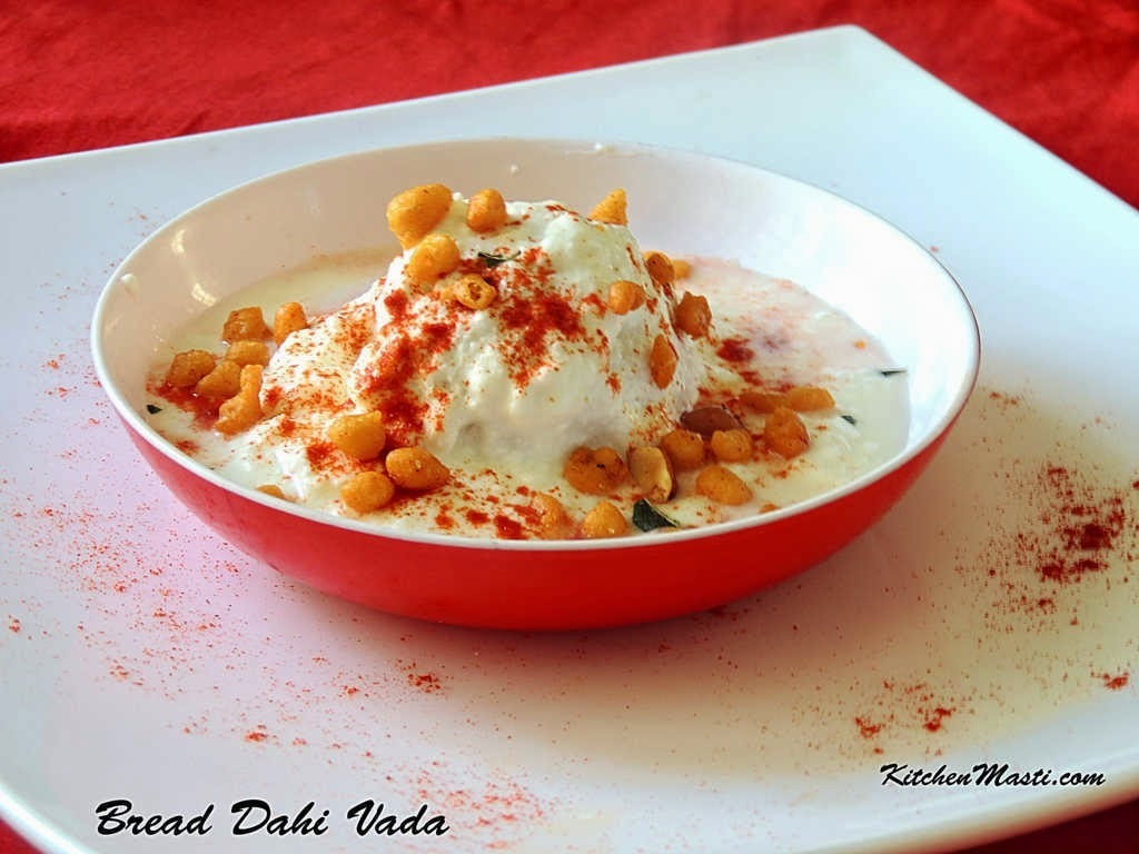 Instant Bread Dahi Vada Recipe