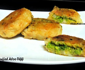 Stuffed Aloo Tikki ( Potato croquette ) Recipe