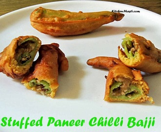 Stuffed Paneer Chilli Bajji Recipe